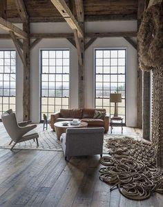 Une maison rustique chic aux Etats Unis | PLANETE DECO a homes world | Bloglovin'