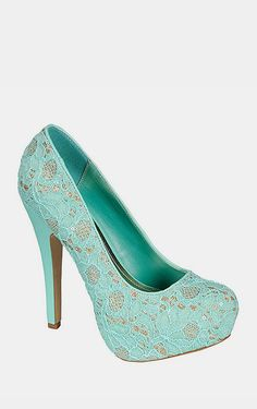 Mint Lace Ericka Pump Green Shoes, Shoe Closet, Heeled Boots, Shoe Boots, Wedding Shoes, Everyday Fashion, Me Too Shoes, Kicks, Dressing