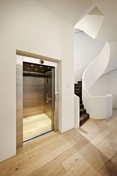 White Smoked Flooring by Royal Oak Floors (Interiors by Carr Design) www. love the staircase Royal Oak Floors, Timber Flooring, Hardwood Floors, Home Repairs, Sorrento, Floor Design, Modern Luxury, Modern Architecture, Contemporary Design