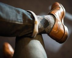 socks brogues jeans