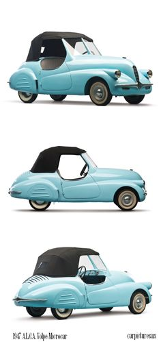 1947 A.L.C.A. Volpe Microcar Concept. This 1947 A.L.C.A. Volpe Microcar Concept is up for sale. The vehicle will be presented on the auction block on The Bruce Weiner Microcar Collection. estimate: $15000 - $25000