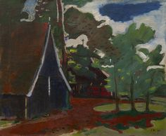 Artwork by Jan Wiegers, A farm in Twenthe, 1940 Made of oil on canvas