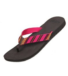 Reef Girls' Guatemalan Love Sandal #swimoutlet Beach Flip Flops, Flip Flop Sandals, Shoes Sandals, Reef Girls, Swimsuits 2014, Swim Shop, Colorful Shoes, Flipping, Streetwear Brands
