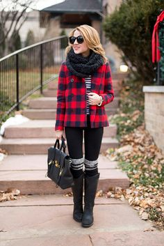 J. Crew Coat, Frye Melissa Button Boots and Boot Socks