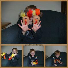 Turkey Felt Finger Puppets