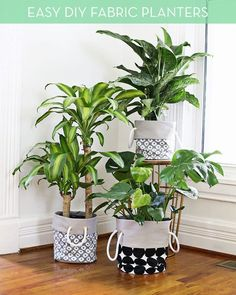 How To: Make Your Own Stylish Fabric Planters