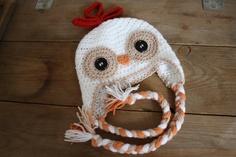 OMG so cute!!    Crochet chicken hat made to order. $27.00, via Etsy.