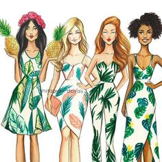 Discover recipes, home ideas, style inspiration and other ideas to try. Illustration Mode, Fashion Illustration Sketches, Fashion Sketches, Arte Fashion, Fashion Week, Girl Fashion, Best Friend Drawings, Girly Drawings, Fashion Design Sketchbook