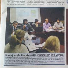 Salón lleno en el resuelvedudas emprendedor realizado en la cámara de comercio de Segovia.