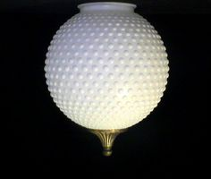 Vintage Glass Lamp Shade Diamond Point 8.5 x 3 7/8 for 4 inch ...