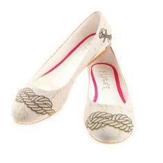 Ballerina Pumps Cord Cotton, 34€, now featured on Fab.