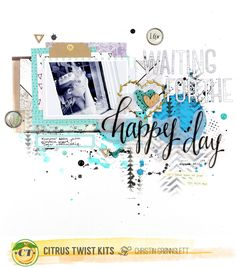 Christin aka Umenorskan scrapper: Citrus Twist Kits March projects