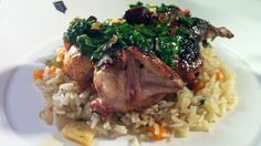 Try this recipe for Grilled Quail with Garlic Butter and Ginger-Vegetable Rice Pilaf from PBS Food.