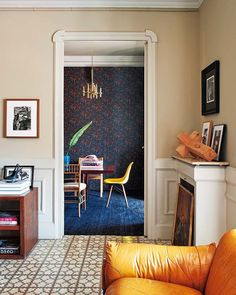 Cool girl with a cool, laid-back apartment. Cristina Ramos of Cristina Ramos Atelier is an art director who had worked with Chloe, Nike, Harper's Bazaar Spain, Vogue Germany and Marie Claire Italy among others. Her eclectic, no-fuss, colorful apartment in Barcelona, Spain was just featured in Casa Vogue.