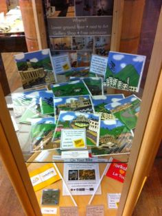 Our Le Tour Yorkshire display in Leeds Library...featuring greetings cards created by Jane O'Neill