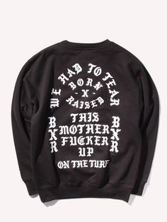 BORN X RAISED* Tear It Up Crewneck Sweatshirt