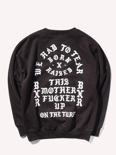 BORN X RAISED* Tear It Up Crewneck Sweatshirt