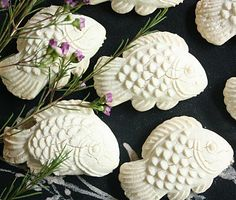 Coconut Fish Cookies....melt in the mouth crumbs on the floor cookies