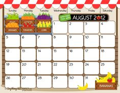 These calendars are a lot more fun to look at than the ones I usually print from Publisher...
