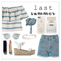 """Last summer outfit!"" by xitsella ❤ liked on Polyvore featuring Mara Hoffman, Miss Selfridge, Steve Madden, Chanel, Bella Freud, Casetify, See by Chloé, Christian Dior and Humble Chic"
