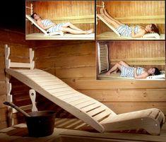 Smart og anvendelig - ekstra comfort i din sauna. Se mere sauna tilbehør her www. Diy Sauna, Sauna Steam Room, Sauna Room, Basement Sauna, Walkout Basement, Basement Stairs, Saunas, Sauna Benefits, Health Benefits