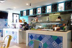 THE KEBAB LADS HARRISDALE & BULL CREEK | Shop Fit Out & Design Interior & Logo Design Perth Blue Pattern Bon Ton Tile s