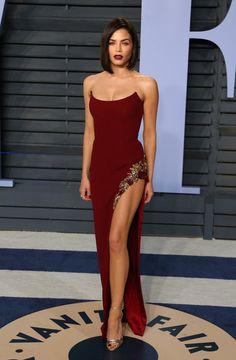 Jenna Dewan Tatum In Pamella Roland – 2018 Vanity Fair Oscar Party
