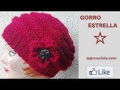 GORRO ESTRELLA A DOS AGUJAS - YouTube