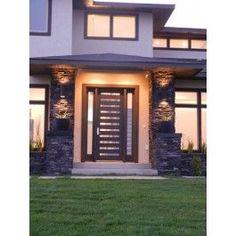 Shop Exterior, Interior, and Prehung Doors Online Modern Entry Door, Modern Exterior Doors, Contemporary Front Doors, Exterior Front Doors, Exterior Design, Classic House Design, Tiny House Design, House Front Door, House Entrance