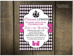 Custom Blk and Pink Princess and Pirate by HairballDesigns on Etsy, $45.00
