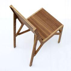 Norma Chair walnut detail