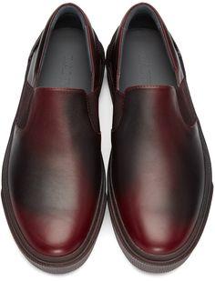 Lanvin - Red Leather Slip-On Sneakers Mens Slip On Sneakers 58fba119d1