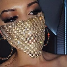 Diy Kleidung, Face Jewellery, Glitter Face, Diamond Face, Mask Party, Party Accessories, Jewelry Accessories, Gold Fashion, Paris Fashion