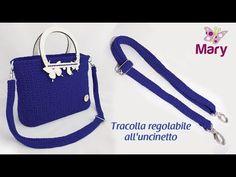 Come realizzare una tracolla regolabile all'uncinetto - YouTube Oboe, Crocheted Bags, Youtube, Lana, Ideas, Bags, Crochet Purses, Crochet Bags, Knitted Bags