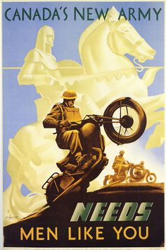 Canadian WW2 poster (1941-42). The artists were A.E. Cloutier and Eric Aldwinkle.