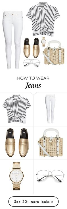 """White jeans"" by elenach-1 on Polyvore featuring H&M, T By Alexander Wang, Dolce&Gabbana and Marc by Marc Jacobs"