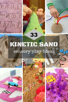 Kinetic sand play ideas for kids to explore and use for playful learning.