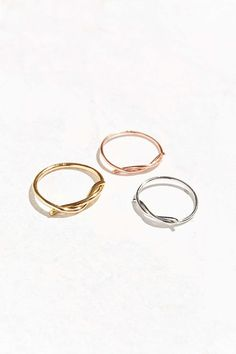 Twisted Layering Ring Set - Urban Outfitters