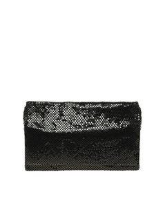 French Connection Slinky Chainmail Clutch Bag