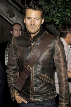 Choosing The Right Men's Leather Jackets. A leather coat is a must for every single guy's closet and is also an excellent method to express his personal design. Leather coats never ever head Leather Jeans Men, Men's Leather Jacket, Leather Jackets, Leather Fashion, Mens Fashion, Motorcycle Outfit, Motorcycle Jackets, Herren Outfit, Hommes Sexy