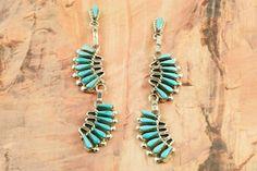 Beautiful Sleeping Beauty Turquoise Earrings at www.TreasuresoftheSouthwest.com/TE1460-p-turquoise-earrings.html