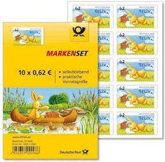 Felix der Hase auf Briefmarke im Folienblatt