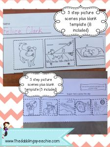 Lots of great sequencing activities for the whole year!!  www.thedabblingspeechie.com