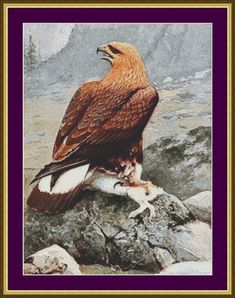 Golden Eagle  Counted Cross Stitch Pattern by PurpleStitching, $5.00