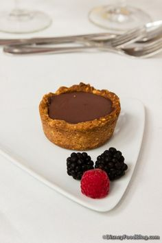 Recipe from Epcot Food & Wine Festival Sweet Sundays Cooking Demo by Carla Hall for Chocolate Pudding Tart with Salted Peanut Shortbread Crust