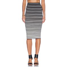 Bardot Graduated Stripe Skirt found on Polyvore