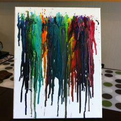 Artsy crayon melting