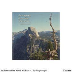 Soul Detox Plan Wood Wall Art - Go To Yosemite