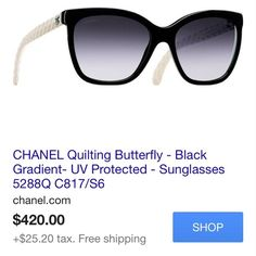 Authentic Chanel sunglasses chanel 5288q sunglasses/ cat eye style with nude quilted arm details CHANEL Accessories Sunglasses
