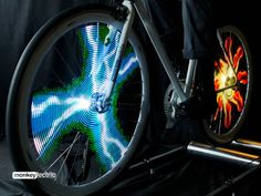 The Monkeylectric Monkey Light creates thousands of amazing patterns in your spinning bicycle wheel producing animated digital light shows.